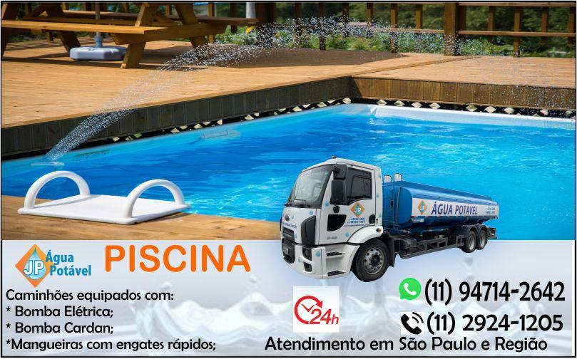 Caminhão de água para abastecimento de piscina em São Paulo