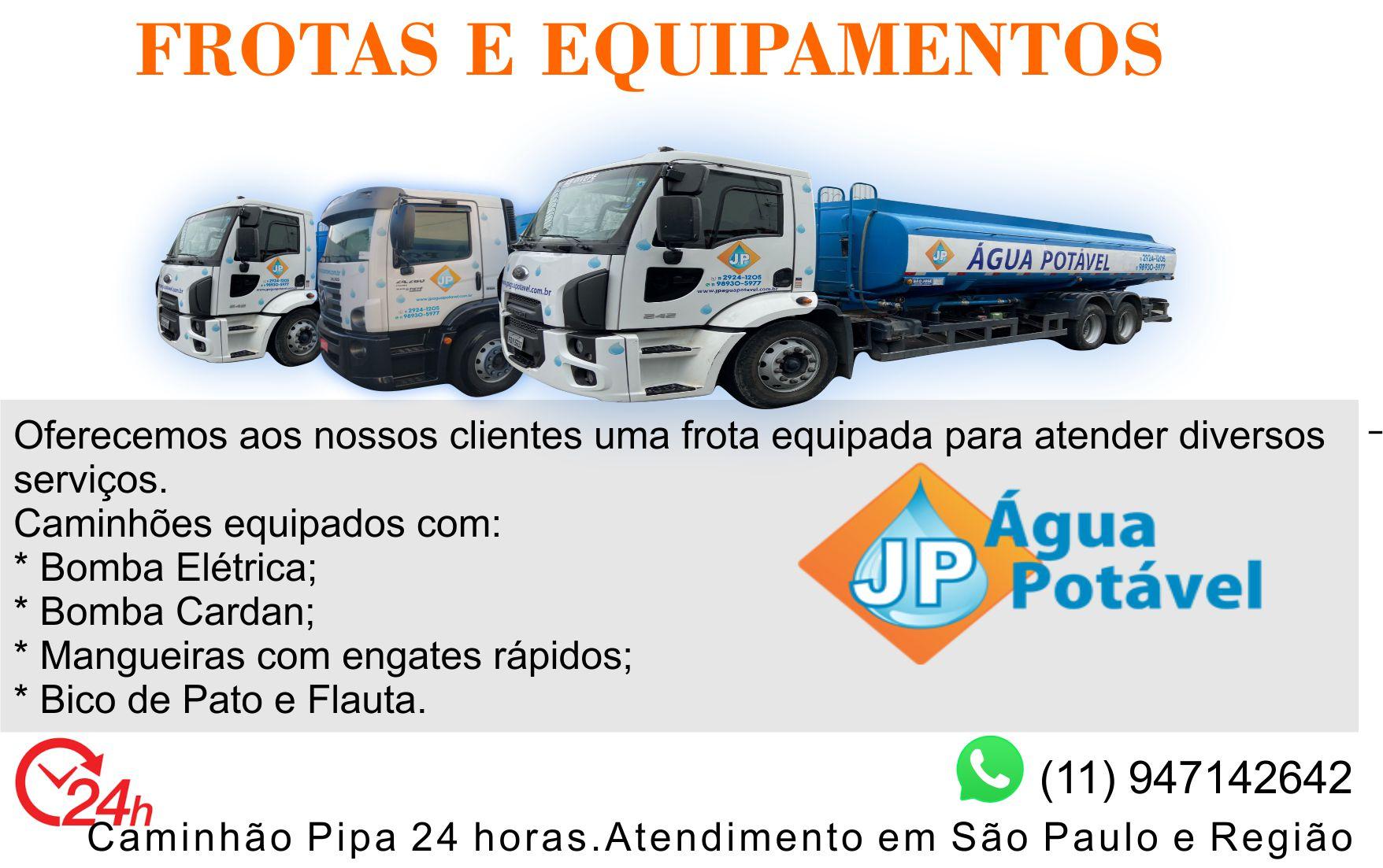 Caminhão de água potável para abastecimento de piscina em São Paulo