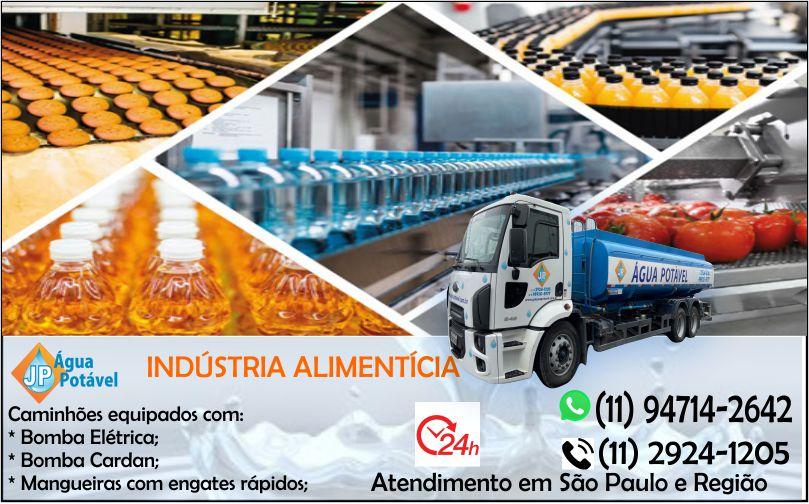 Caminhão para transporte de água em São Paulo