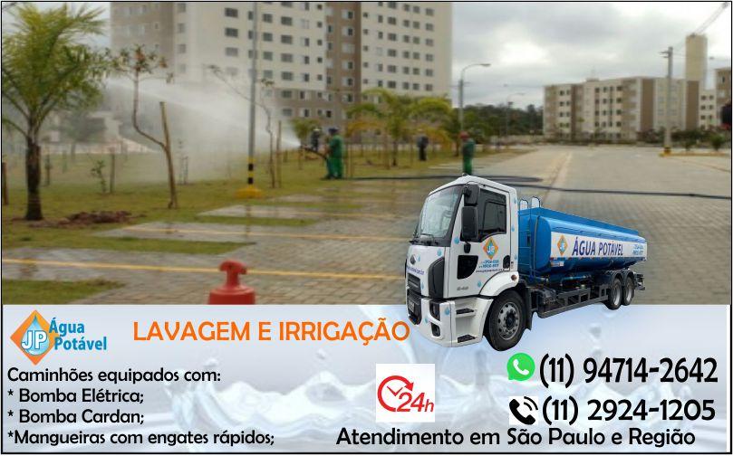 Caminhão pipa para lavagem de rua em São Paulo