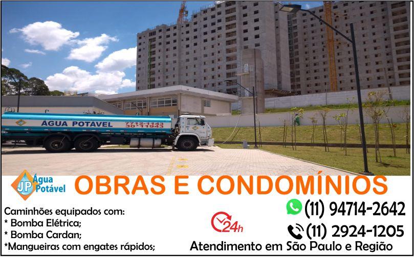 Fornecimento de água para obras em São Paulo