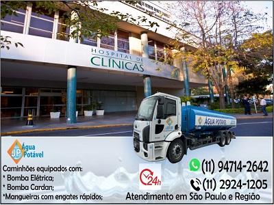 Caminhão de água potável em São Paulo