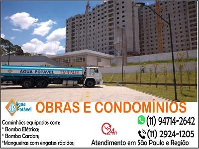 Distribuição de água potável com Caminhão pipa em São Paulo